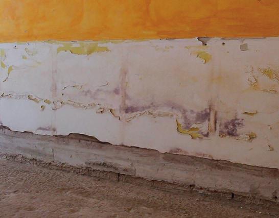 Come risanare una muratura tradizionale interessata da umidità di risalita con un intonaco a base calce. per murature soggette a risalita di umidità ed efflorescenze saline